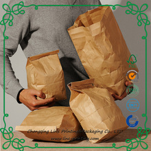 Imported Food Grade Customized Kraft Paper Bags for Bread Snacks Food
