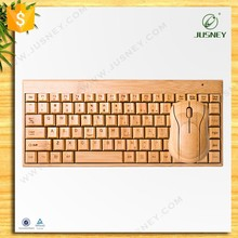 best selling Guangzhou wholesale wireless gaming laptop keyboard with 100% natural wood/bamboo