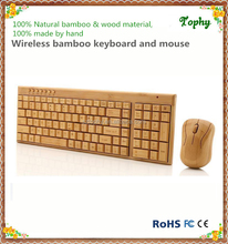 High end 2.4G wireless keyboard and mouse combo set supply cheap bamboo wireless keyboard and mouse