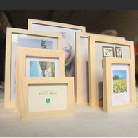 Customized Unfinished Natural Color Wooden Picture Frame