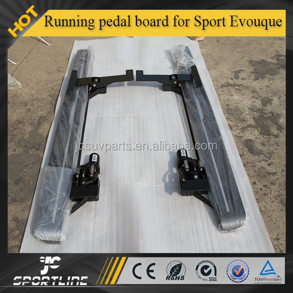 Aluminal alloy Diamond electric car Running pedal board for Sport Evouque 2011-2015