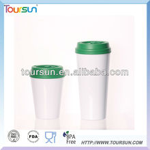 17oz. insulated Double walled plastic coffee cup