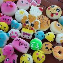 Stress Relief Lovely Cute Funny Squishy Toy for Collection Gift Squishies Random pack Scented Jumbo Slow Rising Kawaii Soft PU