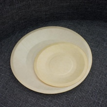 Biodegradable Round Wood Disposable Food Tray <strong>Plate</strong> for Sushi Cake Food Fruit Serving TB025 TB025B