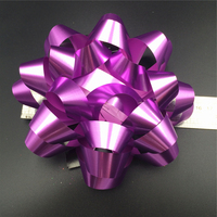 Custom design craft wrap self adhesive plastic ribbon bow for sale