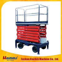 CE warehouse air working scissor hydraulic lift table