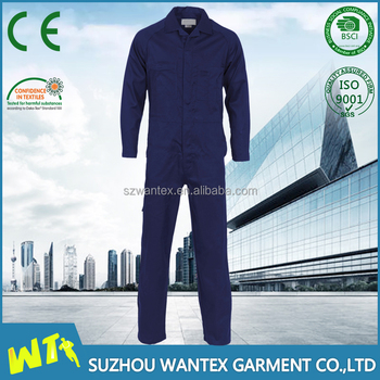 cotton-polyester high quality coverall for men working oil filed coverall for men