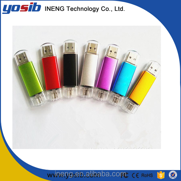2016 New product encryption memory otg usb flash drive for iPhone Android 8gb 16gb 32gb 64gb