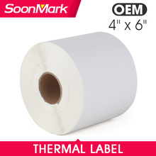 "4"" x 6"" Direct Thermal Labels Blank Shipping Label Stickers for Zebra"