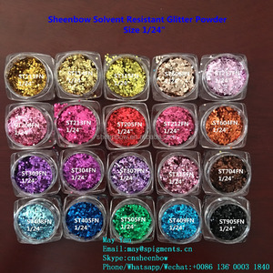 Wholesale Solvent Resistant Nail Glitter Powder for Gel Polish