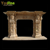 Italian style high quality marble fireplace for home decoration