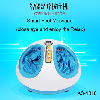 Shiatsu Foot Massager With Deep-Kneading, Built-In Heat Function, Customizable Air Pressure