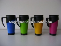 Plastic thermal travel coffee mug TG20168