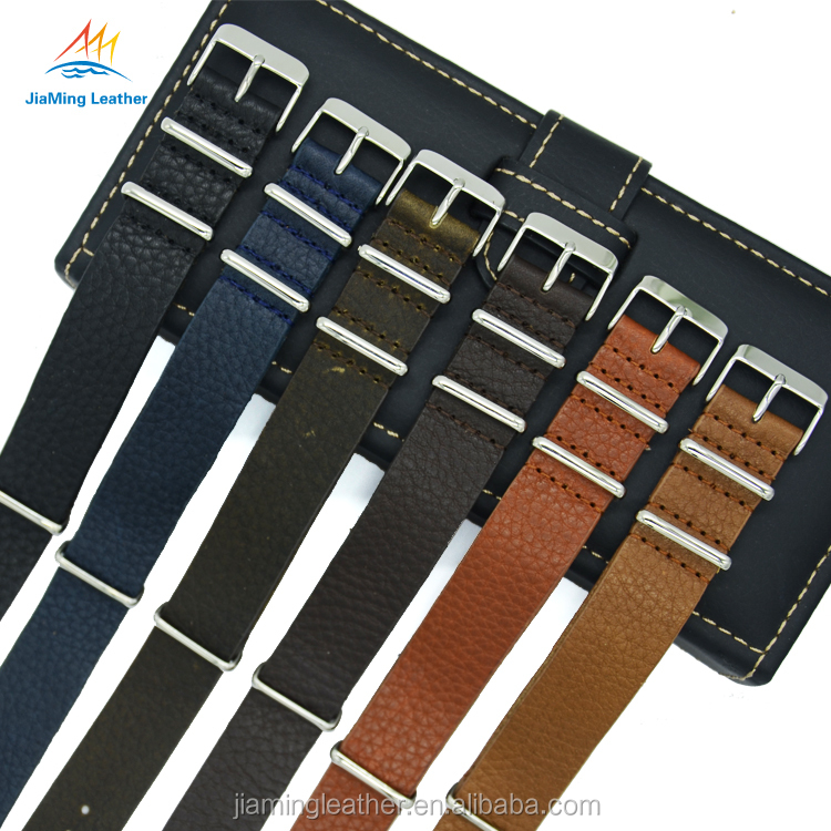 Wholesale Genuine Leather One Piece Nato Watch Bands