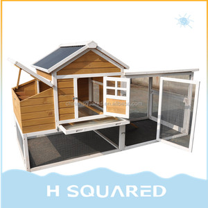 WOODEN Cheap Chinese Chicken Coop Rabbit Hutch Hen Guinea Pigs House With Nest Galvanized Wire Mesh Plans Backyard