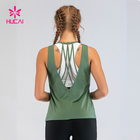 Custom Fitness Singlet Open Back Muscle Fit Workout Tank Top Women