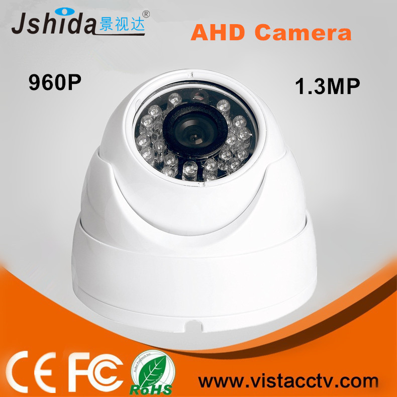 AHD 960P HD <strong>1</strong>.3MP CCTV Security Camera Indoor Dome 24 IR Night Vision Plastic