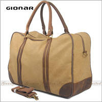 The Classic Heavy Duty Canvas with Genuine Leather Trimmings Large Travel Holdall Safari Bag