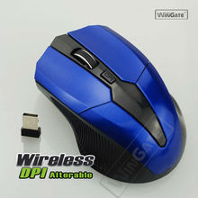 2.4 GHz 2.4G Wireless Ultra Slim Mini Opt ical Mou se Mice USB Receiver For Lap top