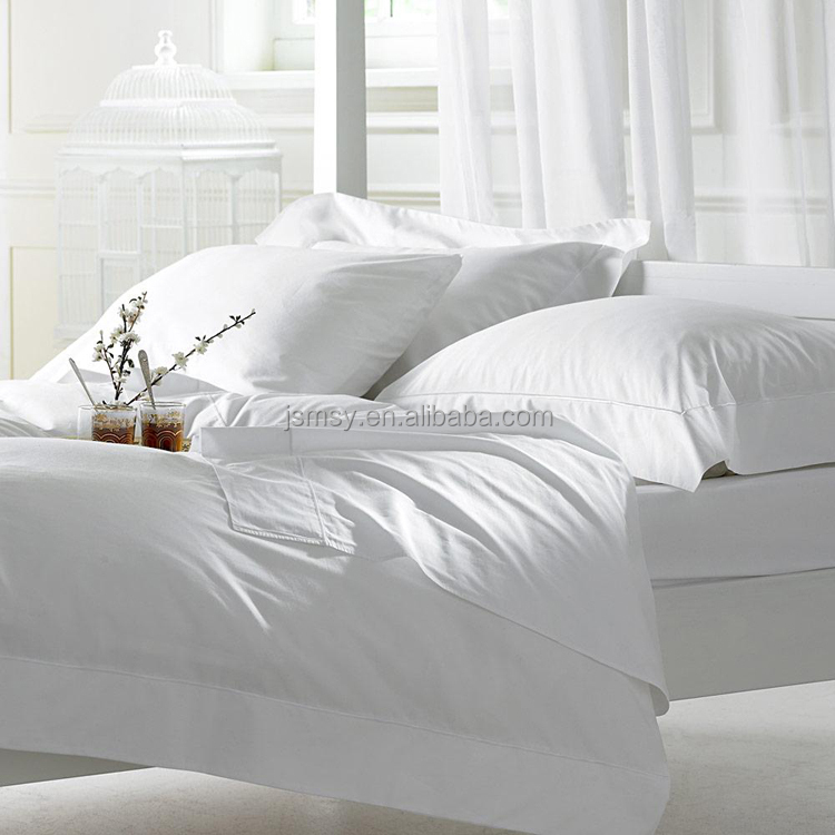 Bed sheet,Bed sheet set 100% cotton white 300TC