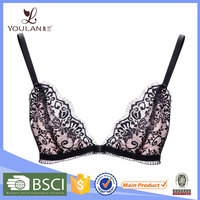 New Arrival Latest Stylish Eyelash Lace Front Closure Transparent Big Bra