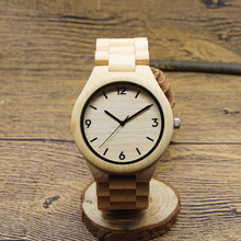 3ATM Waterproof bamboo wood pocket watch with Japanese movement