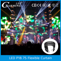 hot! outdoor waterproof led light black video curtain for concert