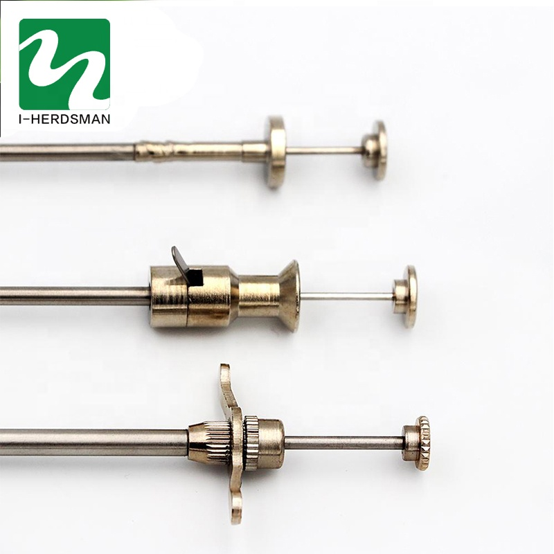 Manufacture veterinary instruments artificial insemination gun high quality stainless steel for cattle