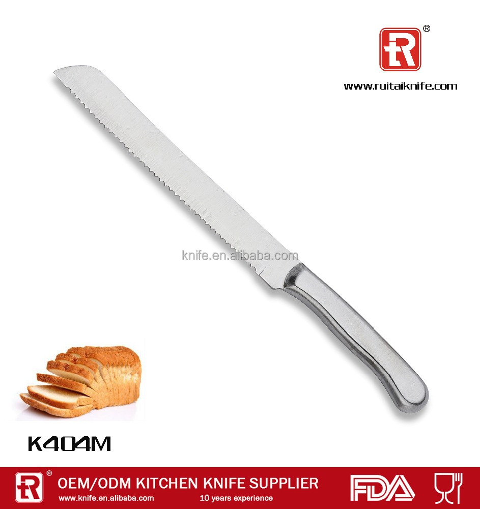 Kitchen stainless steel cake / frozen meat / bread knife,serrated knives set