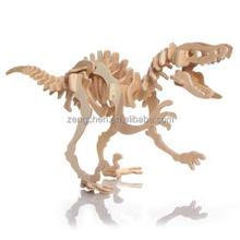 Puzzled Velociraptor Dinosaur 3D Woodcraft Construction Kit