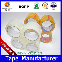 Carton Packing Material Bopp Strong Sticky Clear Tape , 4rolls /pack