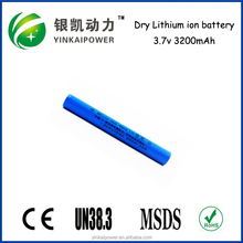 China OEM ICR 18650 3000mAh 3.7V Li-ion Rechargeable Battery for LED Flashlight /Torch