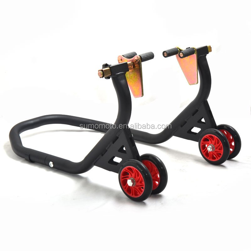 Sumomoto Motorcycle Falcon Rear Stand V hook with 4 nice big TPU wheels