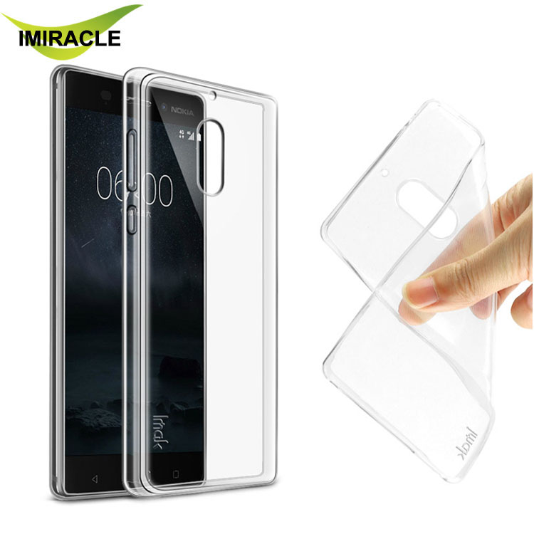 Imak Clear Soft TPU Gel Case Slim Silicone Back Cover For Nokia 6 Phone Case