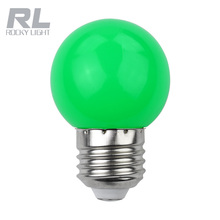 Green G45 christmas decorative led bulb light e14 e27 3 watt 230v globe color candle light bulb with good price