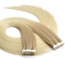 light color wholesale cheap 18 inch silk straight fashion style Brazilian virgin remy human keratin tape adhesive hair extension