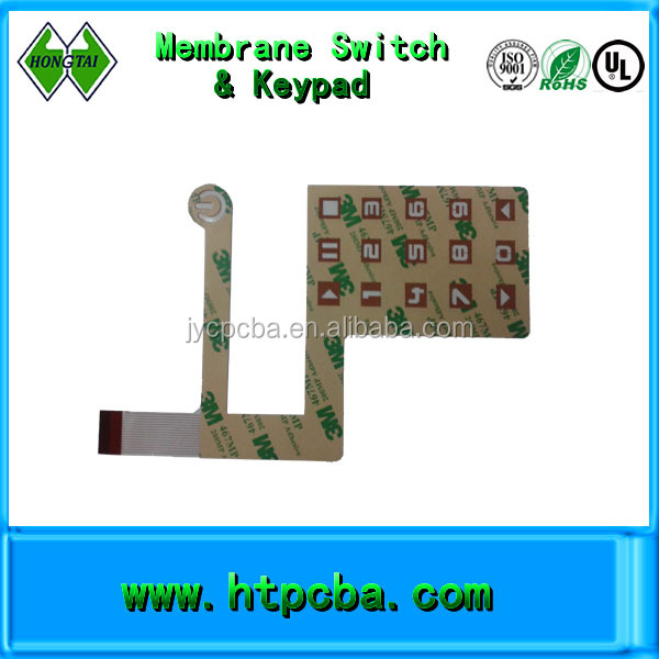numerical membrane switch,customized coverlay keypad single side