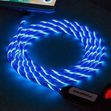 Quick Charge El Glowing Led Light Micro Usb Charger Data Sync Cable For Android Smartphone