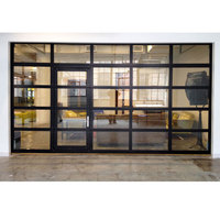 Low price residential horizontal aluminum glass sectional garage door