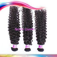 Noble Queen AAAAA Human Unprocessed Virgin Hair Extension 100% No Tangle Wholesale Brazilian French Curl Human Hair