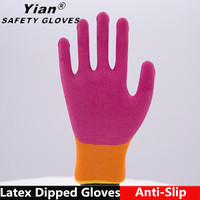 YIAN Home Repairs Grande General Purpose Firm Grip Rubber Latex Coated Gloves