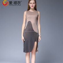factory direct wholesale clothing korea style sexy party dress with slip Issey Miyake splice pleated dress