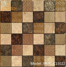Natural Material TV Background Design latest design wall tiles Decorative Hotel mosaic