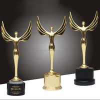 New design Zinc alloy crystal awards and trophies