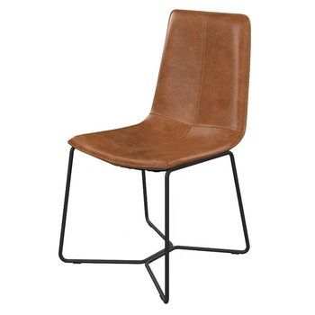 GUYOU GY-4013 modern Metal Frame Covered By New Foam Pu Iron Leg living room restaurant dining leisure chair