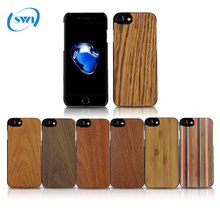 Wholesale New Arrival Customized Design Hard PC + Wooden BambooBlanks Cell Phone Cases For iPhone 7 / 8 Wood PC Phone Case