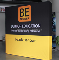8ft 3*3 Large custom straight pop up frame aluminum banner display,endcape fabric tension frame