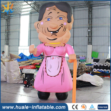 New Design inflatable model , inflatable old woman for sale