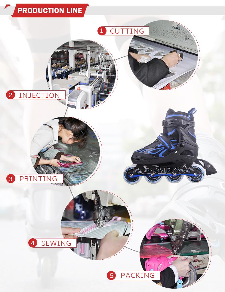 Rollerskate piscar PU volante ajustável adequado tanto para crianças e adultos