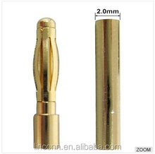 gold plated bullet plugs 2.0mm 4.0mm male female banana plug connector